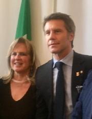 Bambi Lazzati con  Emanuele Filiberto di Savoia