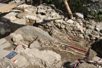 Cittiglio, chiesa di San Biagio, scavi del 2016, foto Università degli Studi dell'Insubria
