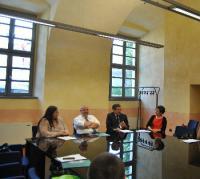Uninsubria Como, da sinistra Marina Protasoni, Alberto Coen Porisini, Giuseppe Colangelo, Michela Prest