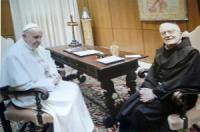 Padre Malagola insieme a Papa Francesco, foto Rondò