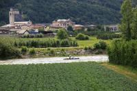 Fiume Adda e sentiero Valtellina a Piateda