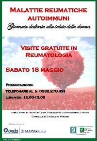 Varese, visite reumatologiche gratuite per le donne