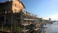 Palazzo Verbania durante la ristrutturazione nel luglio 2017
