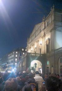 Piazza Scala per Abbado 27 gennaio 2014