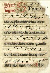 Prima pagina Antifonario Ganna