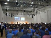 pubblico a incontro Schulz e Mogherini
