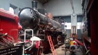 """Restauro, Locomotiva Fs 625116 (1922) detta """" Signorina"""" in sala di """"rianimazione"""" nel 2019. Foto Associazione Verbano Express"""