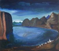 """Sironi, """"Il lago"""", Museo del Paesaggio Verbania.jpg"""