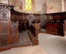Bedero, San Vittore, coro ligneo XVI sec.