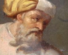 dipinto del XIX sec., dettaglio