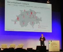 """presentazione """"La Svizzera quale hotspot internazionale – le possibilità per il settore costruzioni"""", Nicolas Buerer, leader Digitalswitzerland"""