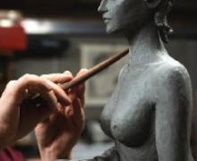 La polena dello scultore Davide Holzknecht
