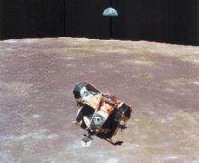 L'uomo sulla Luna  - Discesa del LEM, foto Uninsubria