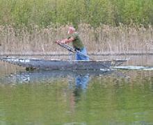 Pesca con retina/sassolini