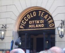 Ingresso Piccolo Teatro Milano
