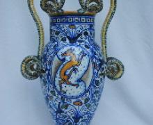 vaso a balasutro biansato con ampie anse serpentiformi, ceramica di Ghirla_1930 circa