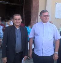 al Carmine, arcivescovo di Milano, monsignor Mario Delpini, con don Sergio Zambenetti