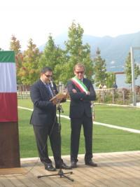 settembre 2013, inaugurazione lungolago, Pisoni con il sindaco Pellicini